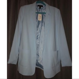 Forever 21 Oversized Cotton/Poly Blend Blazer